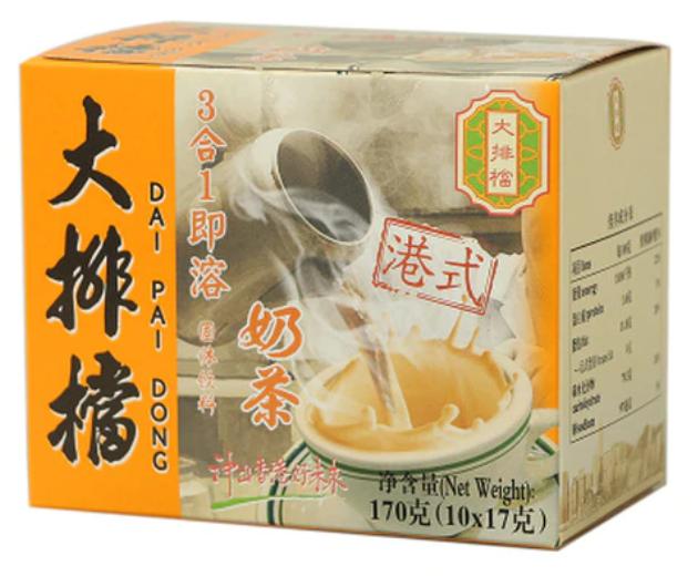 大排檔 即溶 3合 1 奶茶 10包裝