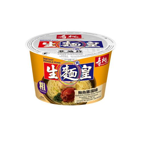 壽桃牌 鮑魚雞味生麵皇(粗) 82G