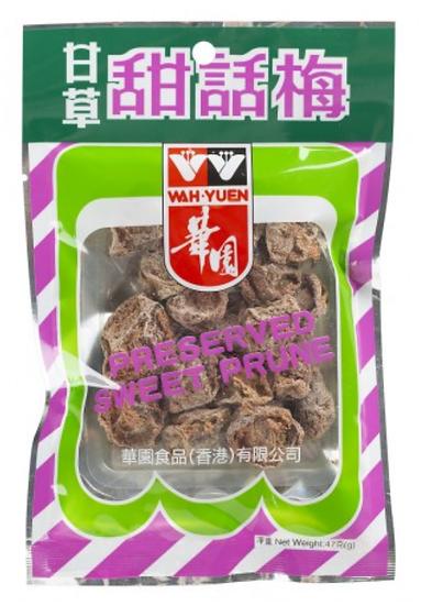 華園 甘草甜話梅 47G
