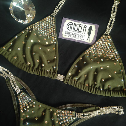 Olive Green Competition Bikini