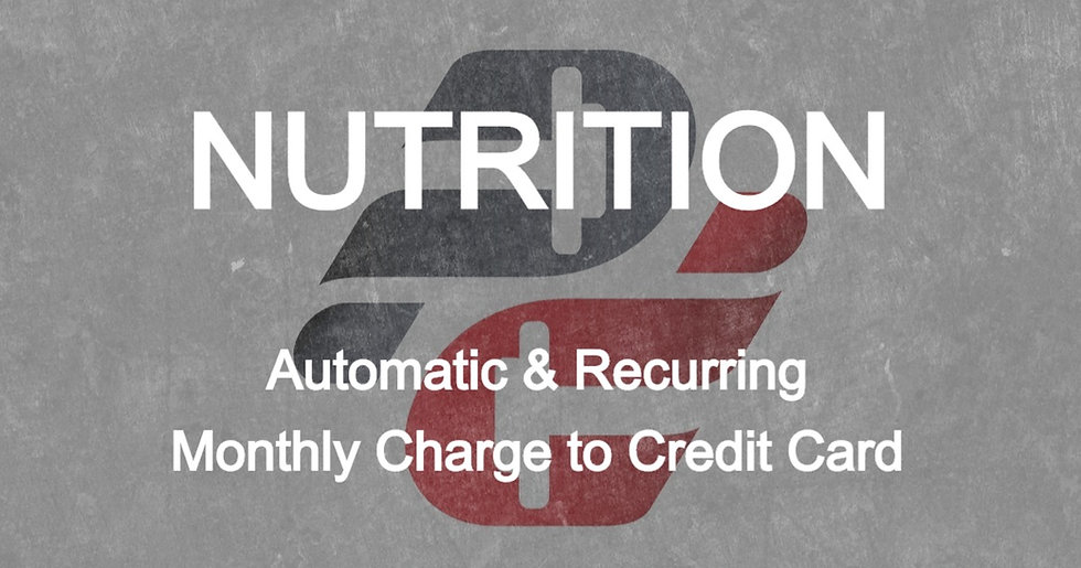 Priscila Lamadrid: Nutrition Only (Monthly Auto-Pay)