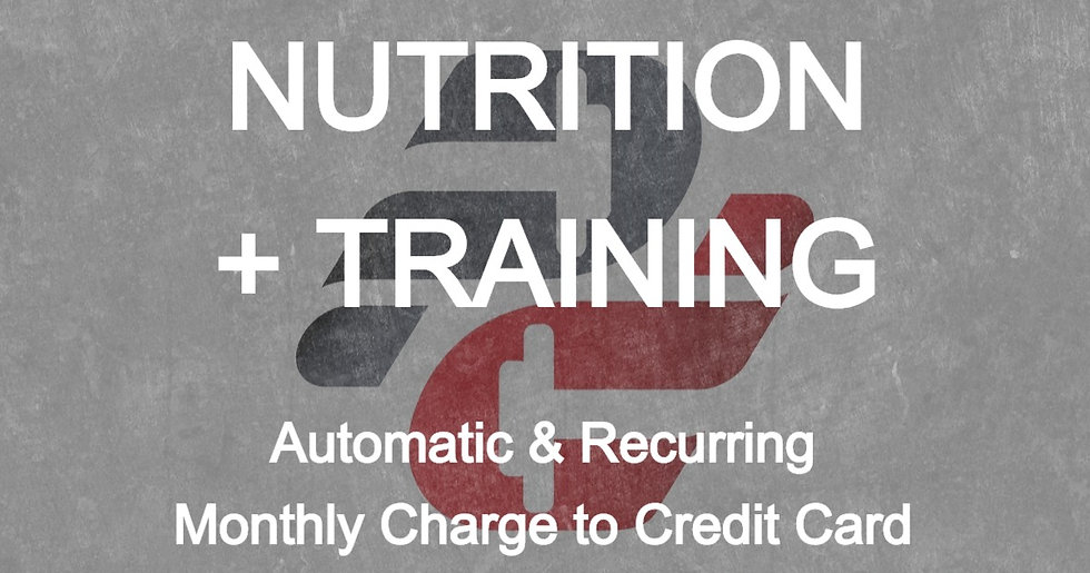 Brooke Morrisseau: Nutrition with Training (Monthly Auto-Pay)