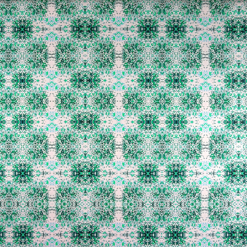 Topiaries - Green on Pink
