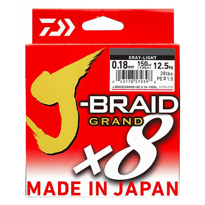 DAIWA J-BRAID GRAND X8 135M. Gray-Light