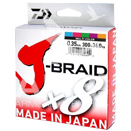DAIWA J-BRAID GRAND X8 300M. MULTI COLOR