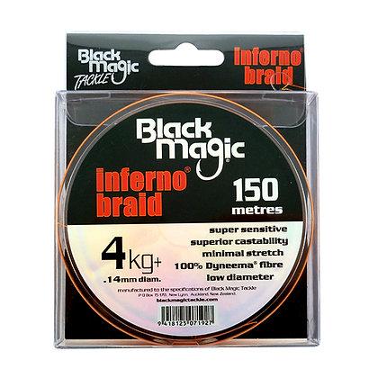 BLACK MAGIC INFERNO®BRAID 150M. Naranja Fluor