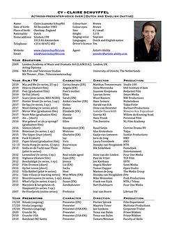 CV Claire Schuyffel 012020 ENGLISH foto.