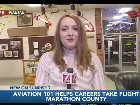 Aviation 101 Featured on WSAW Sunrise 7