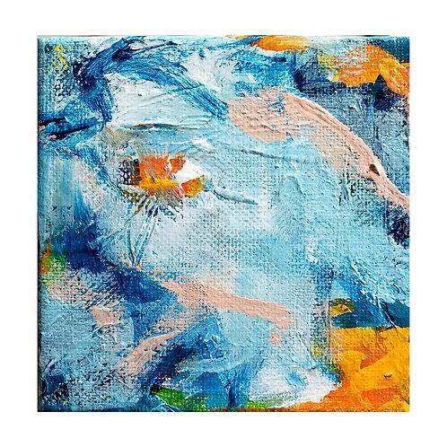 Wild Blue: 4 - 4x4 (Original Painting)