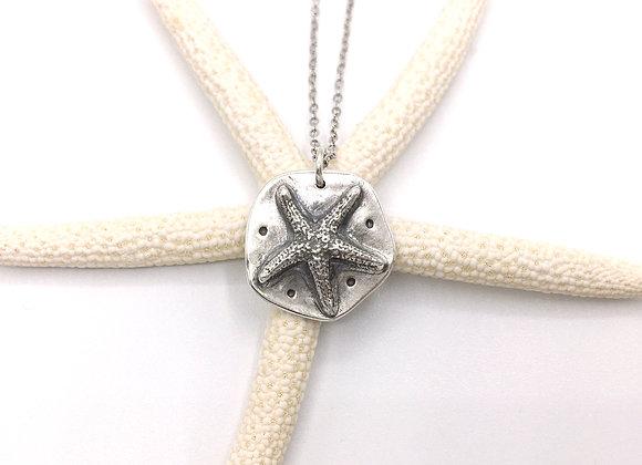 Tiny Silver Starfish Necklace #7