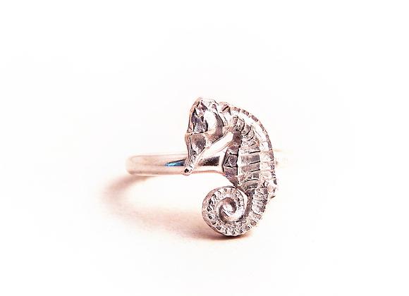 Silver Seahorse Ring