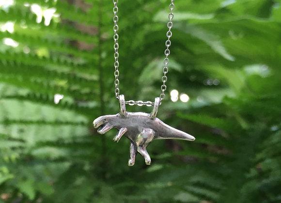 Silver T-Rex Necklace