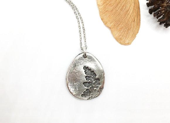 Silver Fern Necklace #9