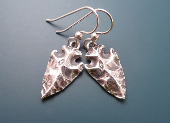 Silver Arrowhead Earrings