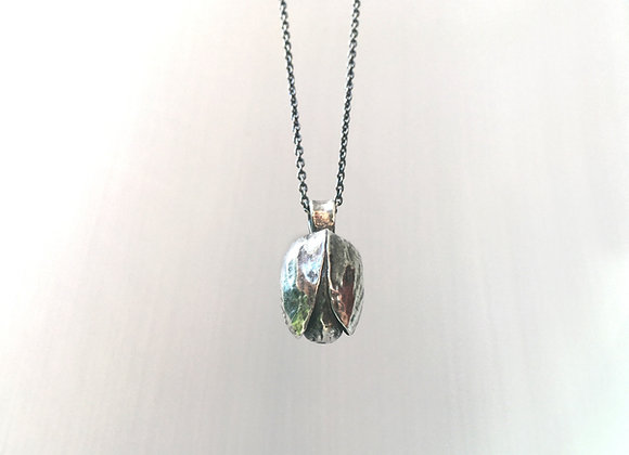 Silver Pistachio Necklace