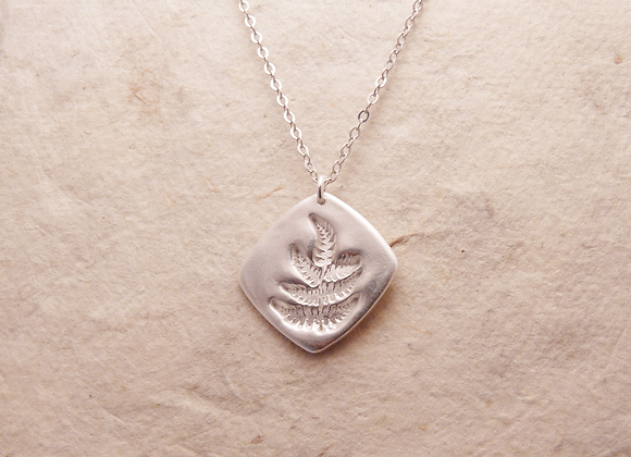 Delicate Silver Fern Necklace