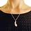 Thumbnail: Silver Singleton Maple Seed Necklace