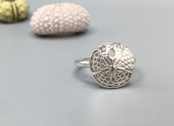 Silver Sand Dollar Ring
