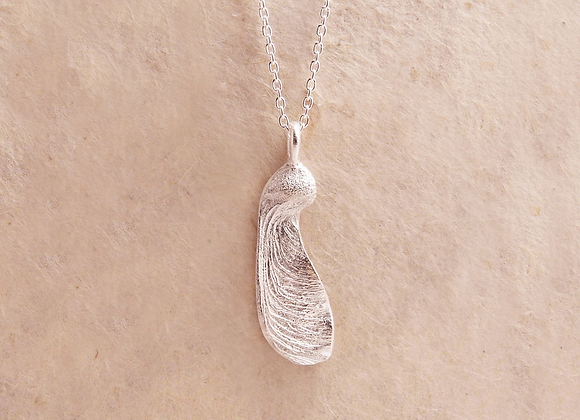 Silver Singleton Maple Seed Necklace