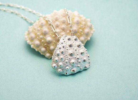 Silver Pink Urchin Fragment Necklace