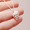 Thumbnail: Silver Nutmeg Shell Necklace