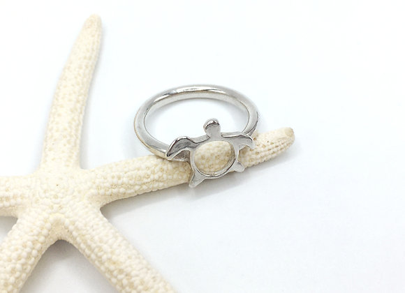 Silver Honu Ring, Size 6.5