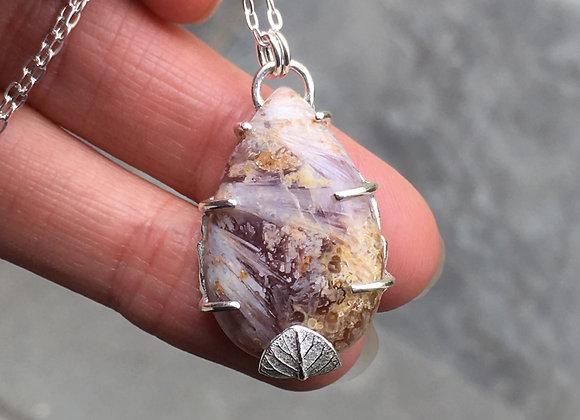 Silver Sage Amethyst Necklace