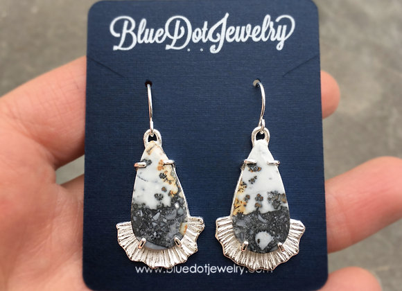 Silver Jasper Party Dress Earrings