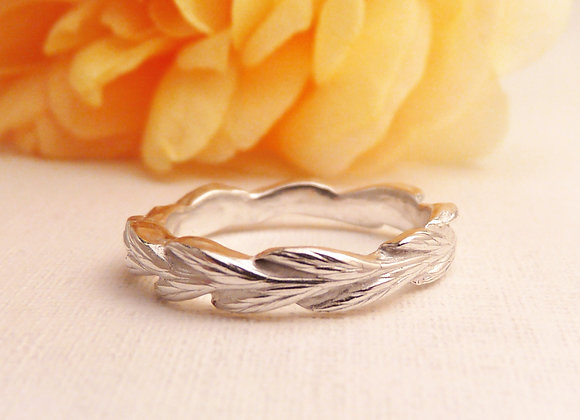Silver Grass Seed Ring