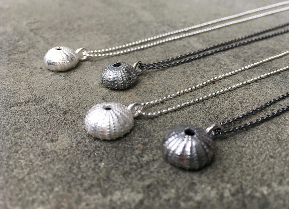 Silver Tiny Urchin Necklace