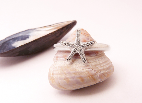 Silver Starfish Ring