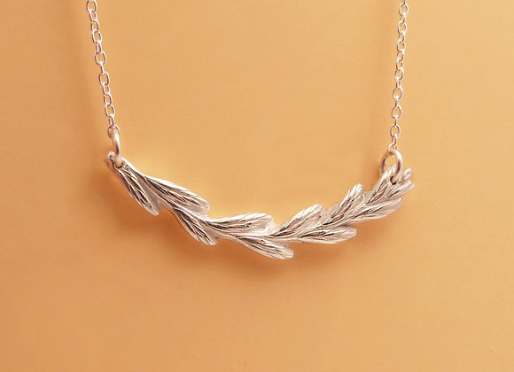 Silver Grass Seed Necklace