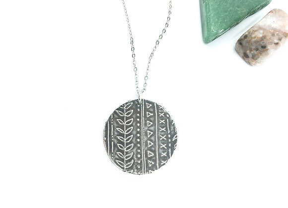 Silver Vine Lines Necklace