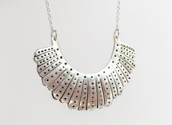 Silver RGB Dissent Collar Necklace