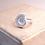 Thumbnail: Silver Ammonite Fossil Ring
