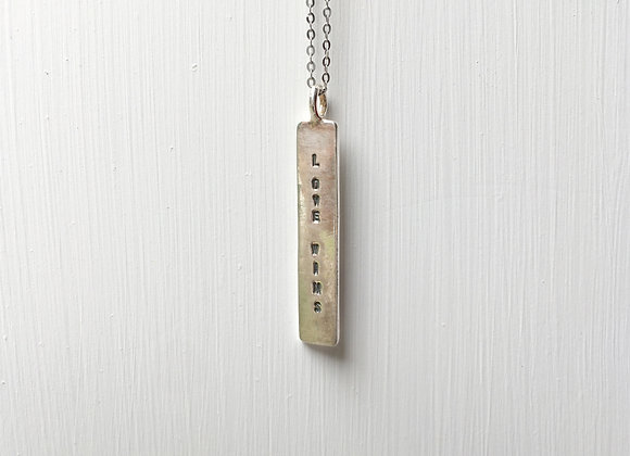 Love Wins Necklace #2