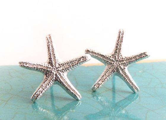 Silver Starfish Post Earrings