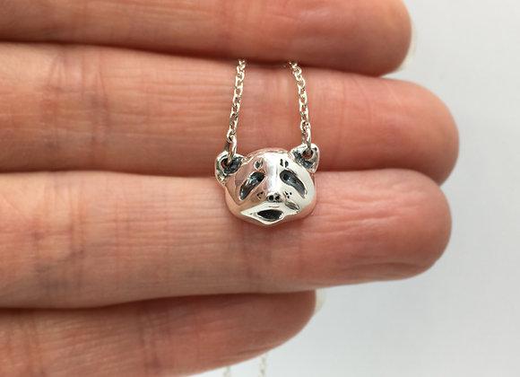 Tiny Silver Panda Necklace