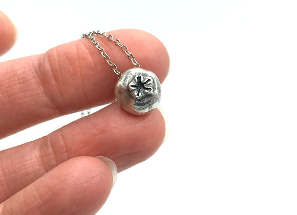 Silver Blueberry Necklace