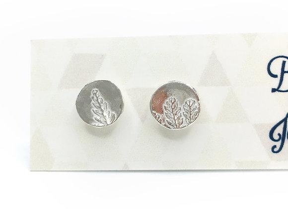 Tiny Silver Fern Post Earrings