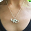 Thumbnail: Silver Brontosaurus with a Heart Necklace
