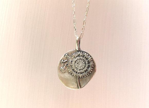Silver Make a Wish Dandelion Necklace #1