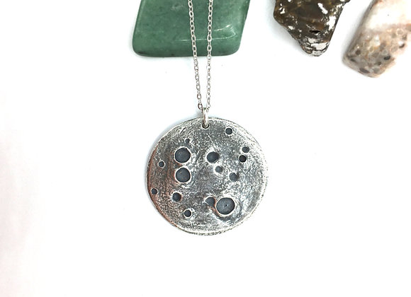 Silver Moon Necklace, Large