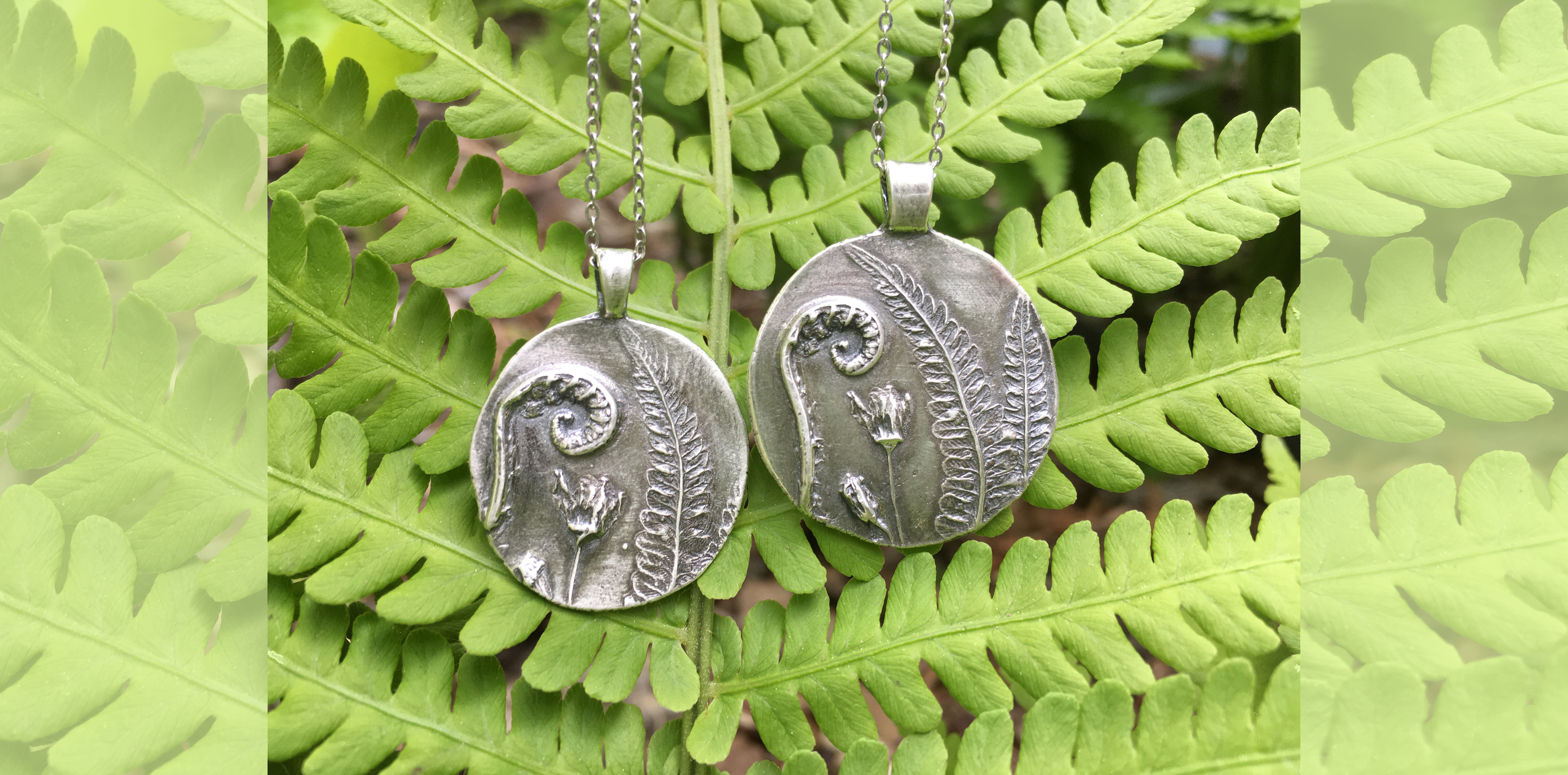 Fiddlehead Fern Necklaces