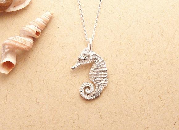 Silver Seahorse Necklace