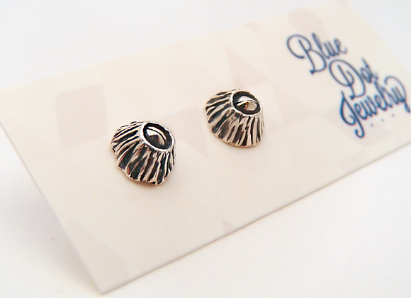 "Silver ""Someone's Home"" Barnacle Post Earrings"