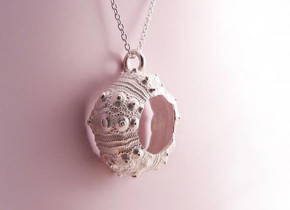 Silver Sputnik Urchin Necklace