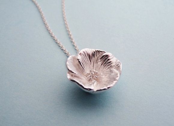 Silver Fire Flower Necklace - Raising Funds for Nikki