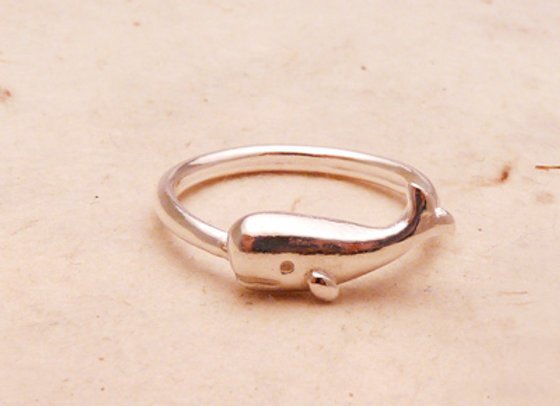 Silver Sperm Whale Ring
