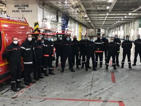 Le SDIS vient en aide aux chauffeurs bloqués en Angleterre